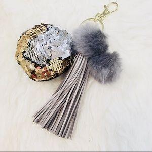 Accessories - Gray Magical Tassel Bag Charm/ Key Fob